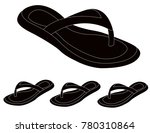 women summer slippers | Shutterstock .eps vector #780310864