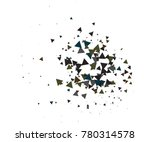 cool explosion  broken glass ... | Shutterstock .eps vector #780314578
