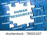 human resource blue puzzle... | Shutterstock . vector #78032107