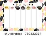 modern vector weekly planner...   Shutterstock .eps vector #780323314