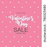 valentines day sale  discount... | Shutterstock .eps vector #780325480