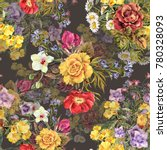 watercolor different bouquet... | Shutterstock . vector #780328093