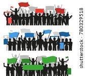 three horizontal flat banners...   Shutterstock . vector #780329518