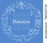criminal and detective elements.... | Shutterstock .eps vector #780330718