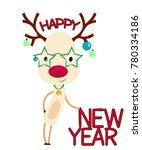 New Year Cartoon Character