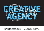 creative agency design with an... | Shutterstock .eps vector #780334393