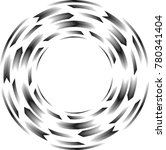 lines in circle form . spiral... | Shutterstock .eps vector #780341404