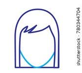 faceless woman profile avatar...   Shutterstock .eps vector #780344704