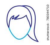 faceless woman profile avatar...   Shutterstock .eps vector #780344710