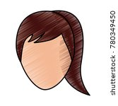 faceless woman profile avatar...   Shutterstock .eps vector #780349450