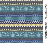 ethnic  pattern with triangle... | Shutterstock .eps vector #780358393