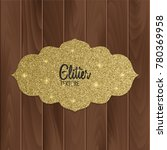 greeting card with gold glitter ... | Shutterstock .eps vector #780369958
