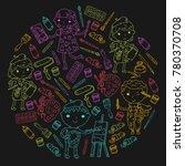children creativity... | Shutterstock .eps vector #780370708