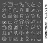 vector icon set | Shutterstock .eps vector #780372178