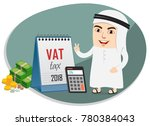 arab business man implemented 5 ... | Shutterstock .eps vector #780384043