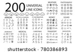 200  line icons set of weather  ... | Shutterstock .eps vector #780386893