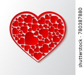 beautiful paper cut out heart... | Shutterstock .eps vector #780387880