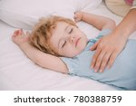 cute sleeping baby and caring... | Shutterstock . vector #780388759