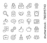 marketing and seo icons set.... | Shutterstock .eps vector #780395743