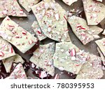 Small photo of Peppermint bark pieces