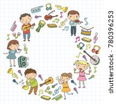 music school for kids vector... | Shutterstock .eps vector #780396253