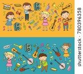 music school for kids vector... | Shutterstock .eps vector #780396358
