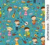 music school for kids vector... | Shutterstock .eps vector #780396463