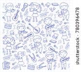 music school for kids vector... | Shutterstock .eps vector #780396478
