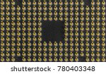 pin grid array angled   bottom... | Shutterstock . vector #780403348