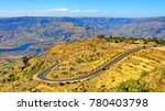 highway in grand canyon of east ... | Shutterstock . vector #780403798