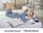 full length portrait of calm... | Shutterstock . vector #780403846