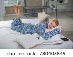 full length portrait of relaxed ... | Shutterstock . vector #780403849