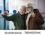 say chees. waist up of happy... | Shutterstock . vector #780405544
