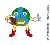 cheerful anthropomorphic earth... | Shutterstock .eps vector #780406588