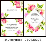 vintage delicate invitation... | Shutterstock .eps vector #780420379
