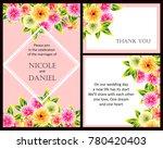 vintage delicate invitation... | Shutterstock .eps vector #780420403
