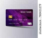 modern credit card template... | Shutterstock .eps vector #780421279