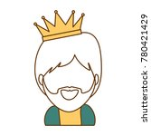 cute king wizard christmas... | Shutterstock .eps vector #780421429