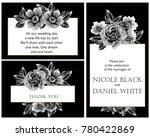 romantic invitation. wedding ...   Shutterstock . vector #780422869