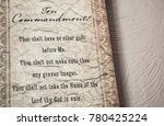 the ten commandments   Shutterstock . vector #780425224