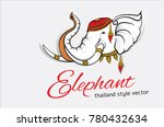 head elephant symbol graphic... | Shutterstock .eps vector #780432634