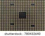 pin grid array medium angled ... | Shutterstock . vector #780432640