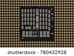 land grid array   cpu   closeup ... | Shutterstock . vector #780432928