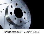 disc brake on black background  ... | Shutterstock . vector #780446218