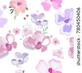 flowers pattern. seamless... | Shutterstock .eps vector #780450406