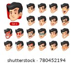 the first set of male facial... | Shutterstock .eps vector #780452194