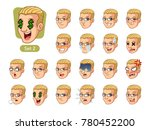 the second set of male facial... | Shutterstock .eps vector #780452200