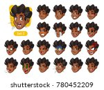 the second set of male facial... | Shutterstock .eps vector #780452209