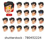 the fourth set of male facial... | Shutterstock .eps vector #780452224