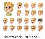 the third set of male facial... | Shutterstock .eps vector #780452230